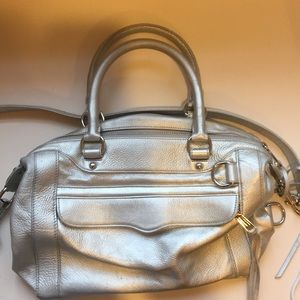 Rebecca Minkoff MAB in silver with silver hardware